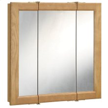 Richland Nutmeg Oak Tri-View Medicine Cabinet Mirror with 3-Doors, 36-Inches by 30-Inches #530576