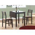 DINING SET - 3PCS SET / CAPPUCCINO SOLID-TOP DROP LEAF Product Image