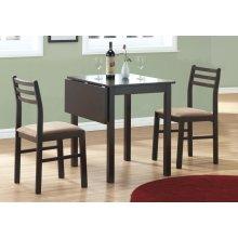 DINING SET - 3PCS SET / CAPPUCCINO SOLID-TOP DROP LEAF