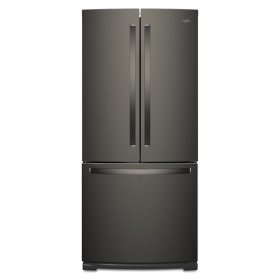 Whirlpool® 30-inch Wide French Door Refrigerator - 20 cu. ft. - Black Stainless