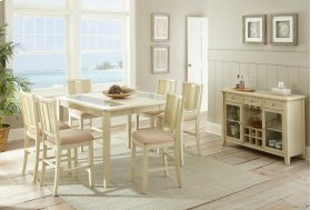 Melody Counter Table, White