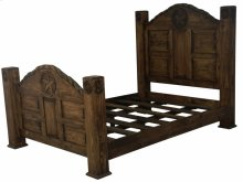 Queen Bed W/ Rope and Star (Medio Finish)
