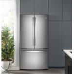 Ge Profile(tm) Energy Star(r) 23.1 Cu. Ft. Counter-Depth Fingerprint Resistant French-Door Refrigerator