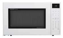 1.5 cu. ft. 900W Sharp White Carousel Convection + Microwave