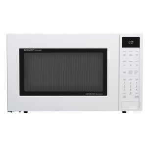 Sharp Appliances1.5 cu. ft. 900W Sharp White Carousel Convection + Microwave