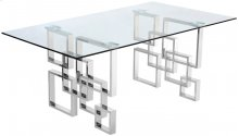 "Alexis Chrome Dining Table - 78""L x 39""W x 30""H"