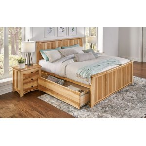 A AmericaKing Storage Bed