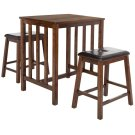 Ilana 3 Piece Pub Set - Chestnut / Black Product Image