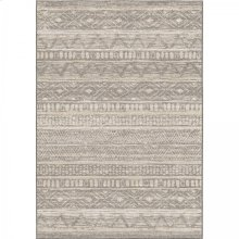 Togo Contemporary 5x8 Area Rug in Grey/Cream