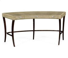 Opera Art Deco Curved Desk for Drawers and Stainless Steel Handles