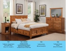 T468-Q/CK/EK Traditional Elevated Pedestal Bed