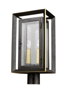 2 - Light Outdoor Post Lantern