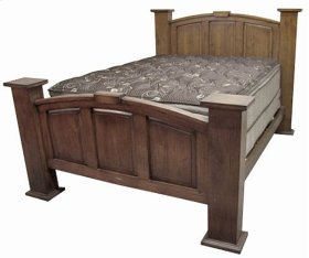 Queen Dark Mansion Bed