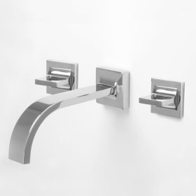 1600 Series Short Wall Mount Vessel Lavatory Set with Nuance Handle (available as trim only P/N: 1.163807ST)