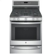"Floor Model - GE Profile™ Series 30"" Dual-Fuel Free-Standing Convection Range with Warming Drawer"
