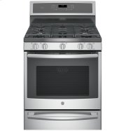 """GE Profile™ Series 30"""" Dual-Fuel Free-Standing Convection Range with Warming Drawer Product Image"""