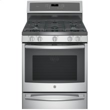 """GE Profile™ 30"""" Smart Dual-Fuel Free-Standing Convection Range with Warming Drawer"""