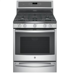 """Floor Model - GE Profile™ Series 30"""" Dual-Fuel Free-Standing Convection Range with Warming Drawer"""