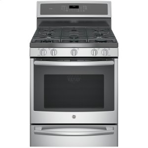 "GE ProfileSeries 30"" Dual-Fuel Free-Standing Convection Range with Warming Drawer"