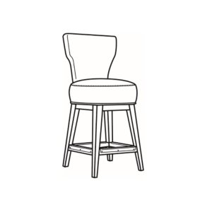 C.R. Laine Leather Swivel Counter Stool