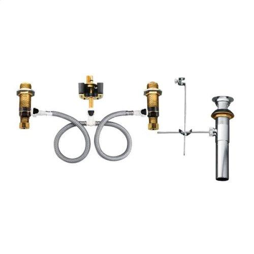 "Moen widespread valve 8"" - 16"" center 1/2"" ips connection"