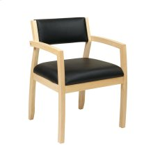 Napa Maple Guest Chair With Upholstered Back