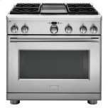 "GE MonogramMonogram 36"" All Gas Professional Range with 4 Burners and Griddle (Liquid Propane)"