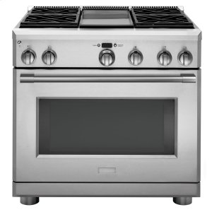 "MonogramMonogram 36"" Dual-Fuel Professional Range with 4 Burners and Griddle (Natural Gas)"