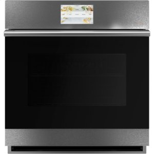 "Cafe AppliancesCaf(eback) 27"" Smart Single Wall Oven with Convection in Platinum Glass"