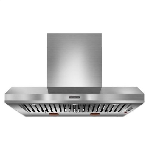 KitchenAid® 48'' Wall-Mount 600-1200 CFM Canopy Hood, Commercial-Style - Stainless Steel