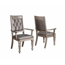 Bling Game Hollywood Glam Metallic Platinum Armchair