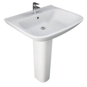 Eden 650 Pedestal Lavatory - White Product Image