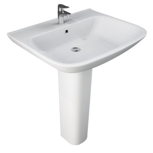 Eden 650 Pedestal Lavatory - White