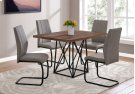 "DINING TABLE - 36""X 48"" / BROWN RECLAIMED WOOD-LOOK/BLACK Product Image"
