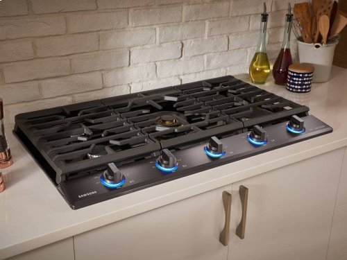 """36"""" Gas Chef Collection Cooktop with 22K BTU Dual Power Burner (2016)"""