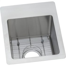 "Elkay Crosstown Stainless Steel 13"" x 16"" x 9"", Single Bowl Dual Mount Bar Sink Kit"