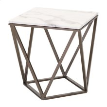 Tintern End Table Stone & A. Brass