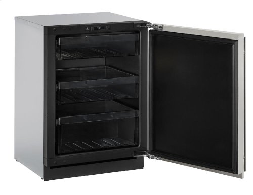 "Modular 3000 Series 24"" Solid Door Refrigerator With Stainless Solid Finish and Field Reversible Door Swing"