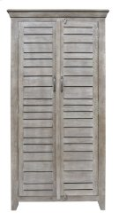 Bengal Manor Mango Wood 2 Door Tall Grey Wine Cabinet Product Image