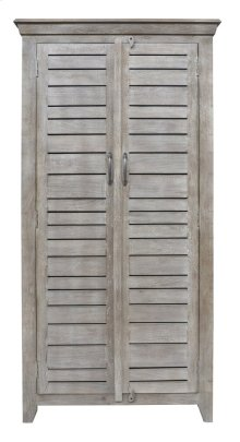 Bengal Manor Mango Wood 2 Door Tall Grey Wine Cabinet