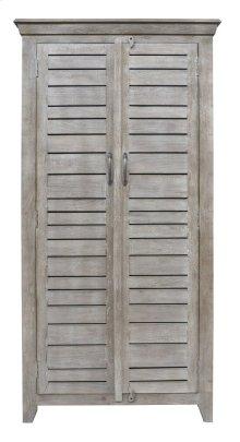 Bengal Manor Mango Wood 2 Door Tall Grey Wine Cabinet