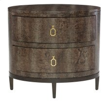 Jet Set Oval Nightstand in Jet Set Caviar (356)