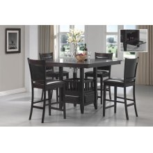 Jaden Transitional Cappuccino Five-piece Counter-height Dining Set