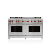 "60"" Gas Range - 6 Burners and Infrared Dual Griddle"