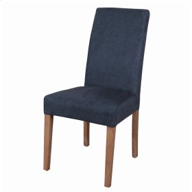 Hartford Fabric Chair Brushed Smoke Legs, Denim Slate