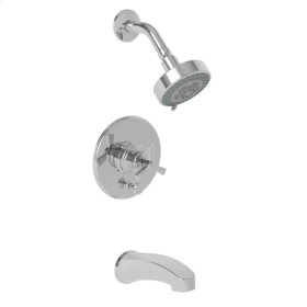 Antique Brass Balanced Pressure Tub & Shower Trim Set