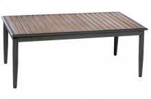 "Oden 43"" Rect. Alum. / Polywood Coffee Table"