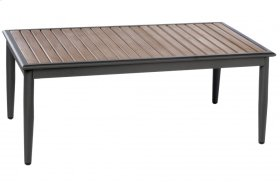 """Oden 43"""" Rect. Alum. / Polywood Coffee Table"""