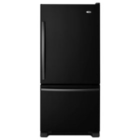 18.5 cu. ft. Bottom-Freezer Refrigerator with Greater Efficiency - black