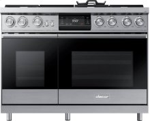 "48"" Pro Dual-Fuel Steam Range, Stainless Steel, Natural Gas/High Altitude"